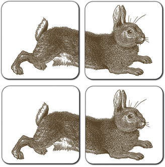 Thornback & Peel - Rabbit & Cabbage Coasters - Set of 4