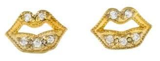 Farah Tanya 18K Diamond Small Lip Stud Earrings