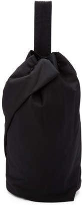 Yohji Yamamoto Black Tuck One Shoulder Backpack