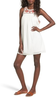 Women's Sun & Shadow Embroidered Shift Dress $55 thestylecure.com