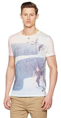 BOSS Orange Men's 10139980 01 T-Shirt, White, Large