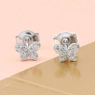 b7f5300a45bba3 Hurleyburley Sterling Silver Butterfly Sparkle Earrings