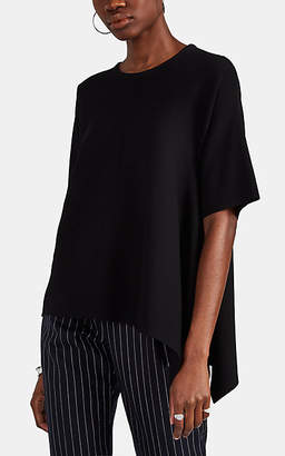 Derek Lam Women's Rib-Knit Cashmere-Silk Asymmetric Blouse - Black