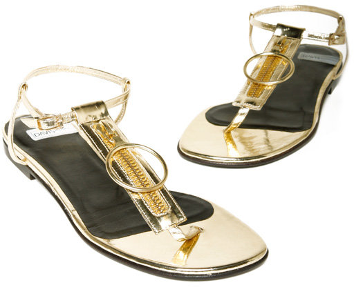DAVIS BY RUTHIE DAVIS Metallic Zipper Sandal
