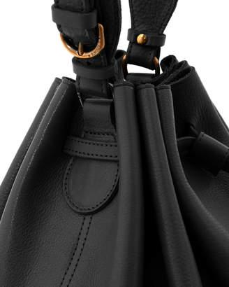 Il Bisonte Leather Curly Bucket Shoulder Bag