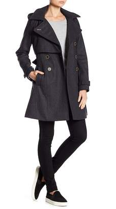 Andrew Marc Rae Double Button Wool Blend Coat