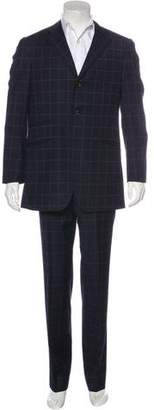 Etro Windowpane Wool Suit