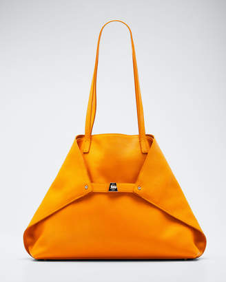 Akris Ai Little Cervo Calf Leather Top-Handle Bag