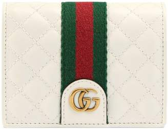 Gucci Leather card case wallet with Double G