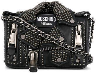 Moschino studded leather jacket bag
