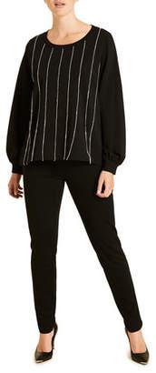 Marina Rinaldi Plus Size Jersey Punto Stoffa Skinny Pants