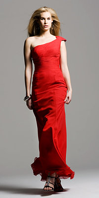 Celebrity Inspired One Shoulder Red Gown by Faviana Couture