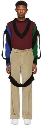Maison Margiela Black Decortique V-Neck Sweater