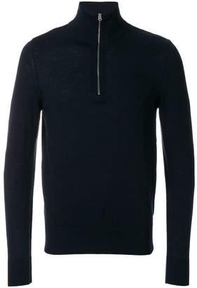 Burberry Zip-neck Cashmere Cotton Sweater