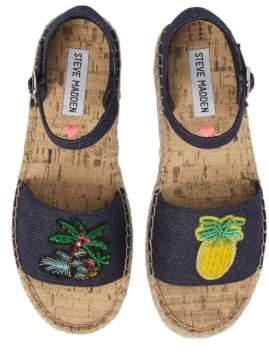 Steve Madden JLUAO Tropical Embellished Sandal