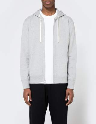 Reigning Champ Core Full Zip Hoodie in Heather Grey