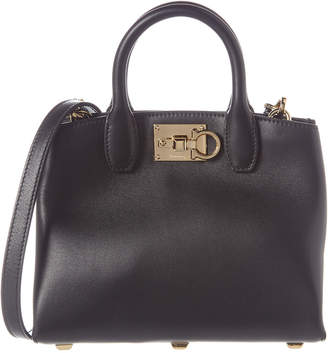 Salvatore Ferragamo Studio Mini Leather Satchel