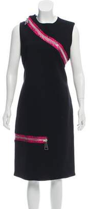 Christopher Kane Sleeveless Zip-Accented Dress