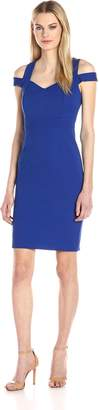 Adrianna Papell Women's Cold Shoulder Fitted Dress
