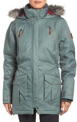 Women's Columbia 'Barlow Pass' 550 Turbodown(TM) Waterproof Jacket With Faux Fur Trim $280 thestylecure.com