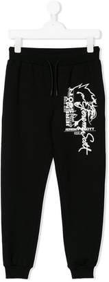 Jeremy Scott Junior graphic print track pants