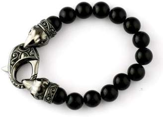 Stephen Webster Stainless Steel & Black Onyx Bead Bracelet