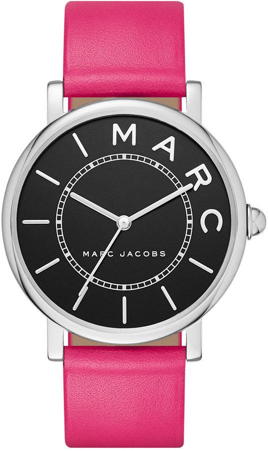 Marc By Marc JacobsMarc by Marc Jacobs Women's Roxy Fuchsia Leather Strap Watch 36mm MJ1535