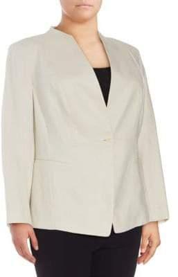 Lafayette 148 New York Plus Max Linen Jacket