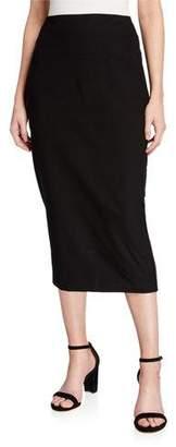 Eileen Fisher Washable Crepe Slim Midi Skirt