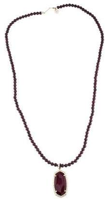 Kendra Scott Bordeaux Tiger's Eye Marlowe Pendant Necklace