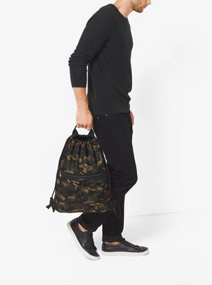Michael Kors Kent Camouflage Nylon Drawstring Backpack