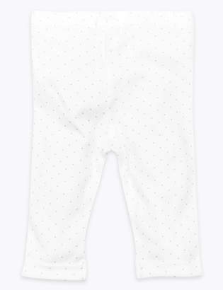 Marks and Spencer Organic Cotton Spotted Leggings