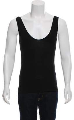 Dries Van Noten Rib Knit Scoop Neck Tank