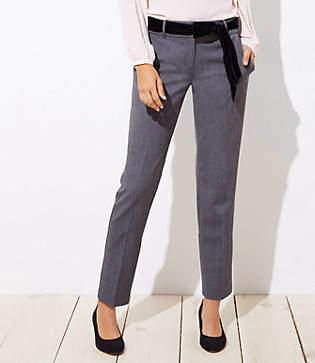 LOFT Petite Slim Velvet Tie Waist Pencil Pants in Julie Fit
