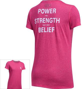 Under Armour Women's Power In Pink Tech Short Sleeve Graphic Tee