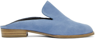 Robert Clergerie Blue Suede Alicem Slip-On Loafers $495 thestylecure.com