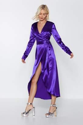 Nasty Gal Shine on Me Satin Dress