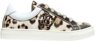 Roberto Cavalli Leopard Print Nappa Leather Sneakers