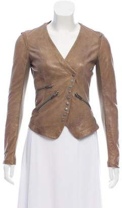 Yigal Azrouel Cut25 by Leather Cropped Jacket
