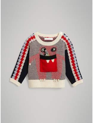 Burberry Monster Cashmere Jacquard Sweater