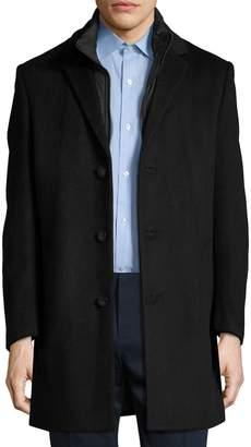 Hart Schaffner Marx Men's Wool Detachable Bib Top Coat