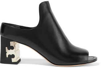 Tory Burch - Finley Leather Mules - Black $350 thestylecure.com