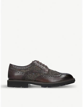 Tod's Tods Perforated leather and tweed shoes