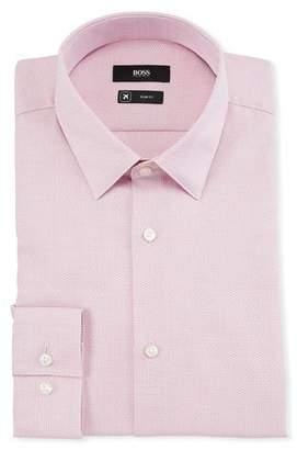 BOSS Men's Travel Structured Dress Shirt