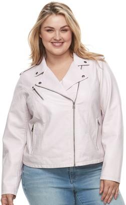 f88fac0b5eb Levi s Levis Plus Size Faux-Leather Jacket