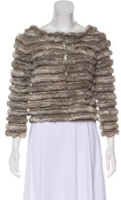 Alice + Olivia Cropped Fur Jacket