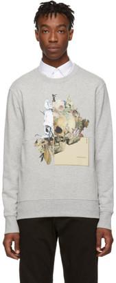 Alexander McQueen Grey Patchwork Skull Sweatshirt