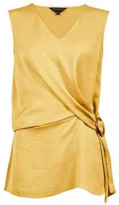 Dorothy Perkins Womens Yellow Buckle Detail Sleeveless Top