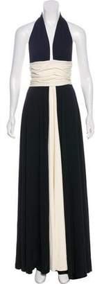 Halston Halter Maxi dress
