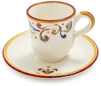 Sur La Table Francesca Espresso Cup and Saucer
